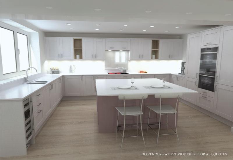 Full 3D Design Service Kitchens Northampton